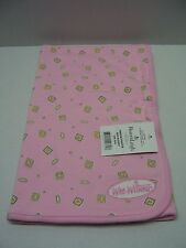 Heaven Leigh Wee Witness Pink & Yellow Block Baby Blanket 28 x 28 One Size NEW