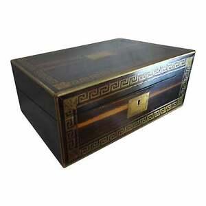 Late 19th Century Chubb & Son Zebra Wood & Inlaid Brass Lap Desk