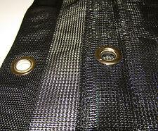 Mesh Tarp Black 10' x 20' Heavy Duty Mesh Materials