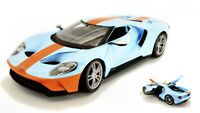 Model Car Scale 1:18 diecast Maisto Ford Gt Gulf vehicles Miniatures Coche