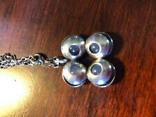 Finland silver mid-century modermist moonstone necklace tuntematon okand pori