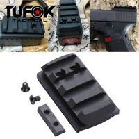 Pistol Sight Mount Plate Rail Mount For Micro Red Dot Sight fit Glock 17 19 35