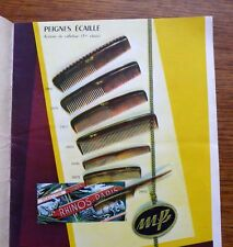 Oyonnax Vintage Catalogue matière plastique 1953 peingne lunettes jouets bijoux