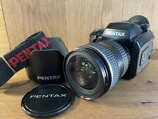 Optischer Mint Pentax 645N Mittelformat Kamera Mit / Fa 45-85mm Af Zoom Linse