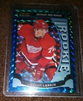 2015-16 O-Pee-Chee Platinum Blue Cubes Dylan Larkin Rookies SP 53/75 Red Wings.