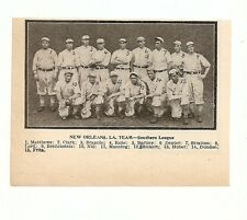 New Orleans Pelicans 1908 Team Picture Bris Lord RARE