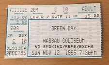 1995 GREEN DAY DOOKIE TOUR NASSAU CONCERT TICKET STUB MIKE DIRNT TRE COOL 10