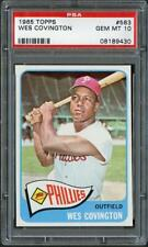 1965 Topps 583 Wes Covington Phillies PSA 10  08189430