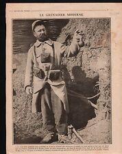 WWI Portrait Grenadier Poilus Uniforme Lanceur Grenades France 1916 ILLUSTRATION