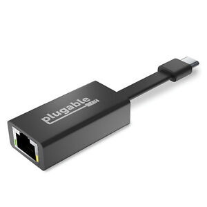 Plugable USB C to Ethernet Adapter, Fast & Reliable Gigabit Speed, Thunderbolt 3