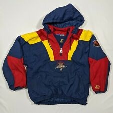 Vintage Starter Jacket Florida Panthers XL (Mens L) Puffer Rare Blue Yellow Red