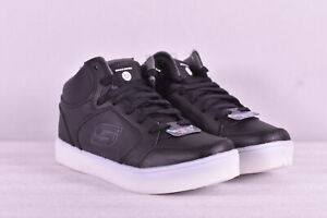 Youth Boy's Skechers S Lights Energy Lights High Top Sneakers, Black, 5.5M