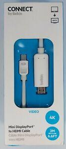 Belkin Mini DisplayPort to HDMI Cable 6Ft Adapter Apple MacBooks Mac PC 4k Video