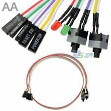 4 in1 PC 65cm Power Reset Switch HDD Motherboar LED Cable Light Cord Kit