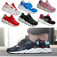 LADIES RUNNING TRAINERS WOMENS LACE UP BOYS FLAT COMFY FITNESS GYM HUARACHES