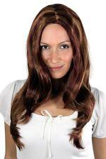 Wig brünett blond-rote-Strähnen glatt S-13-131-27 50cm