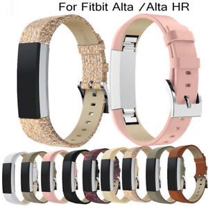 Leather Replacement Wrist Watch Band Strap Bracelet For Fitbit Alta/Alta HR