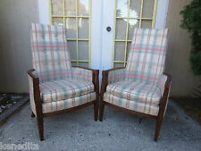 PAIR Chairs French Country 2 Fauteuil Library Victorian Hollywood Regency parlor