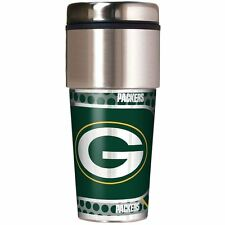 Green Bay Packers Travel Tumbler Mug Stainless Steel Metallic Graphics 16 oz