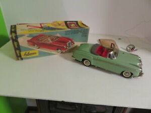SCHUCO HYDRO CAR-ELECTRO 5720-MERCEDES-VINTAGE-CLEAN SHAPE-WITH BOX-GREEN-LOOK!!