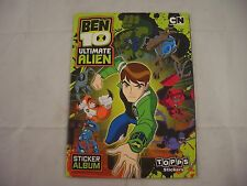 Topps Ben 10 Ultimate Alien Sticker Album Empty