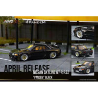 In Stock -INNO 1:64 Scale Nissan R32 SKYLINE GT-R PANDEM Black Car Model NEW