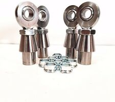 """7/8"""" x 3/4"""" 4-Link Chromoly Rod End Kit w/ Cone Spacers Heim (Bung 1-1/2 x.120)"""