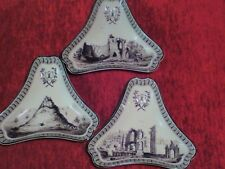 Set of 3 Wedgwood Queens Ware triangular dishes genius frog collection VGC