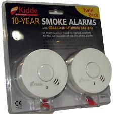 2 Kidde Smoke / Fire Alarm Detectors - 10 Year Batteries