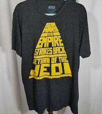 Star Wars The Empire Strikes Back Return Of The Jedi Mens Large Black T Shirt