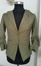 Doki Geki Women's Ladies  Blazer jacket green - Size m
