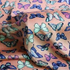 1Yard*150cm Soft Crepe Satin Charmeuse Material Fabric Butterfly Design