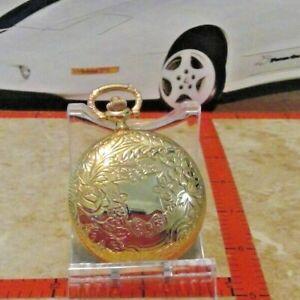 COLIBRI Verichron POCKET WATCH nos gold diamond cut case