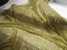 Gold 'glittery' Sequin Fabric