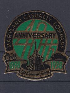 Reklamevignette 40 Jahre Maryland Casualty Company Versicherung USA 1938