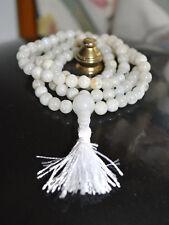 108+1 A+ Grade Moonstone Handmade Japa Mala 6mm Prayer Beads Necklace - Blessed