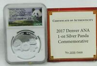2017 China Official Mint 1 oz. Silver Medal NGC PF 70 Ultra Cameo