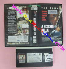VHS film A RISCHIO DELLA VITA 1996 Van Damme UNIVERSAL UVT 60504 (F143) no dvd