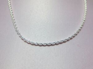 9  1/2  INCH STERLING SILVER PLATED 2.5 MM ROPE CHAIN ANKLET