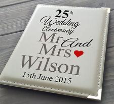 """Personalizzata 7x5 """"x 36 ALBUM FOTO, Libro di memoria, 25A matrimonio anniversario regalo"""