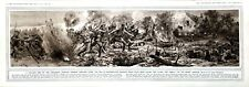 More details for canadians charging german trenches drawing print ww1 vintage antique rare 1915