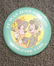 Disney It Was Just Grand 1900 Park Fare Button