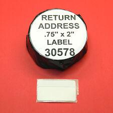 4500 RETURN ADDRESS /  BARCODE LABELS fit DYMO 30578 - BPA Free
