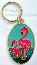 PINK FLAMINGO Key Ring Key Chain Keychain NEW!
