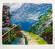 """Howard Behrens """"ROAD TO POSITANO"""" Hand Signed Limited Edition Serigraph Art"""