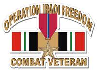"Bronze Star Iraq Combat Veteran 5.5"" Military Sticker / Decal"