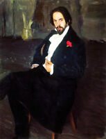 Oil painting REPIN ILIYA EFIMOVICH - Male portrait bilibin on canvas no framed