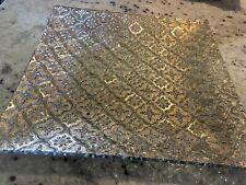 "Vtg Georges Briard Iberia 22k Gold Hollywood Regency 10"" Pressed Art Glass Tray"
