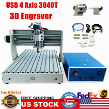 New Listing4 Axis 3040 Cnc Usb Router Engraver Milling Engraving Machine Desktop Engraving