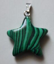 Malachite Star Shaped Pendant. 22mm by 22mm. (A).